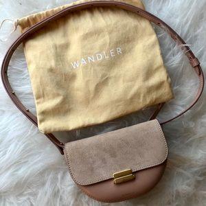 NEW Wandler Anna Mini Leather Convertible Belt Bag